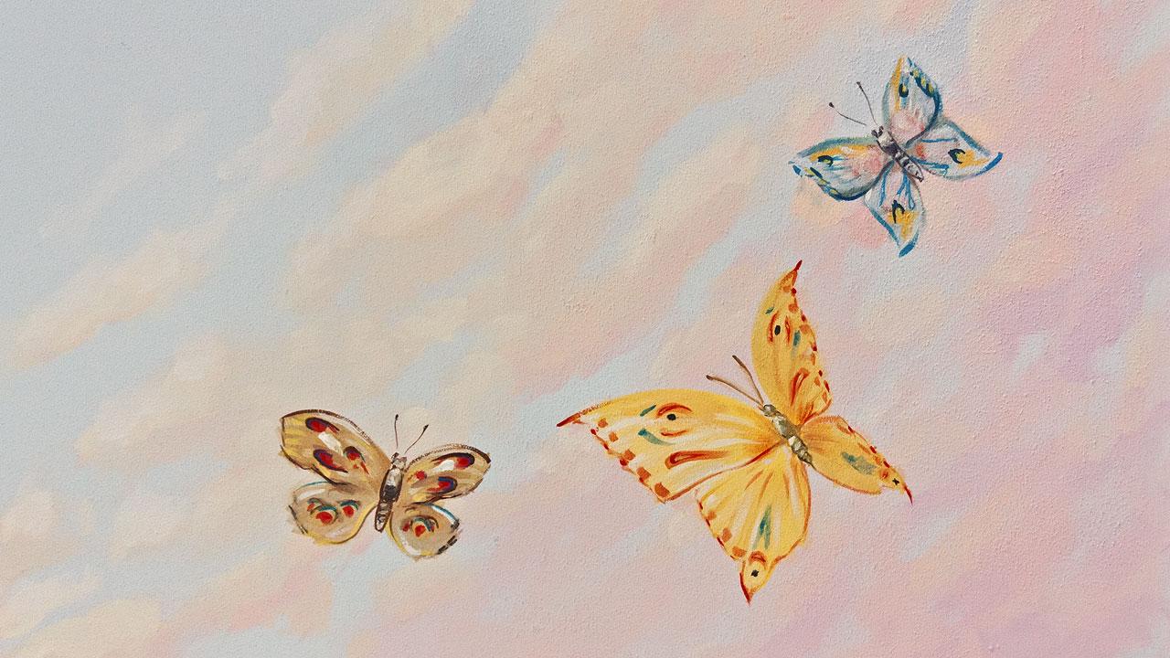 spálňa Papilion – detail stropu