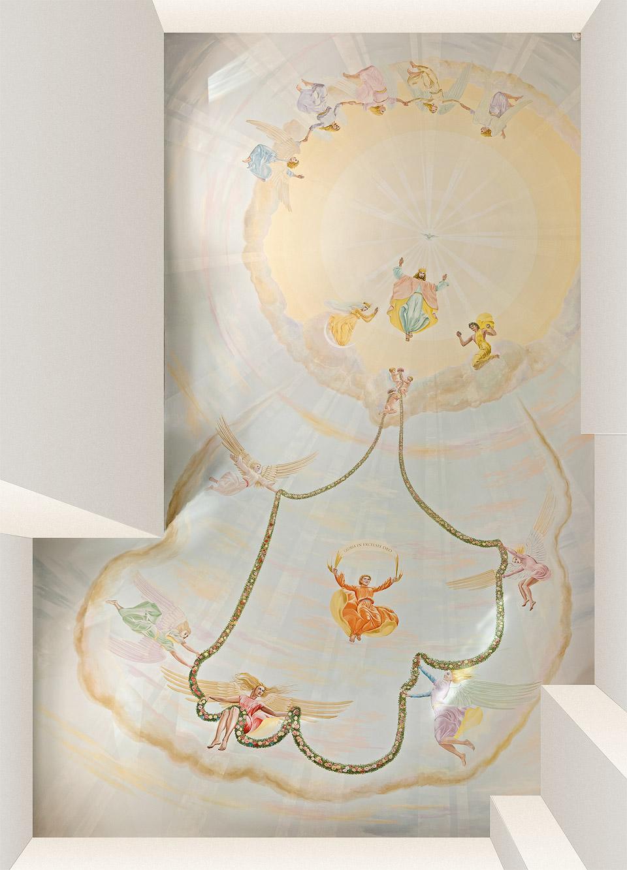 Salón anjelov – strop